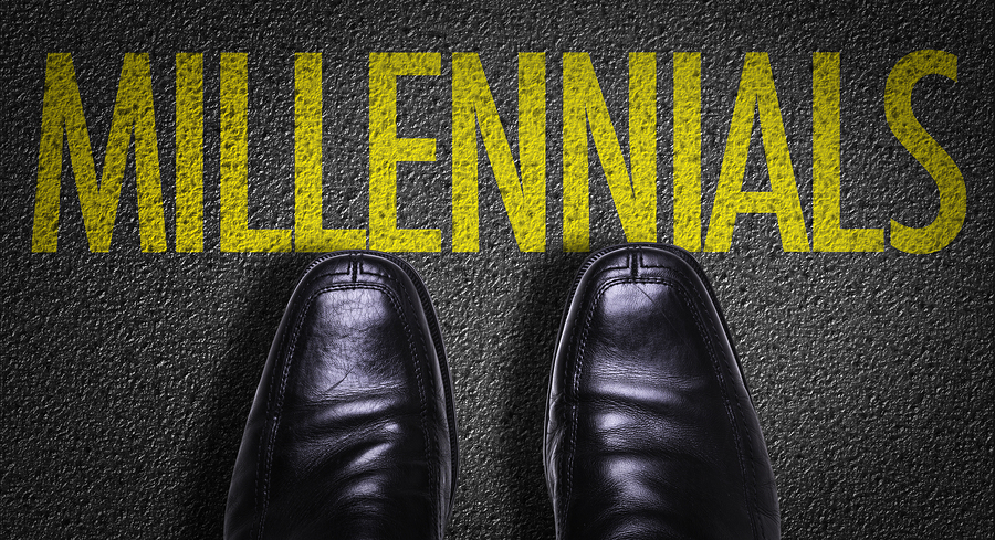 Top View of Business Shoes on the floor with the text: Millennials